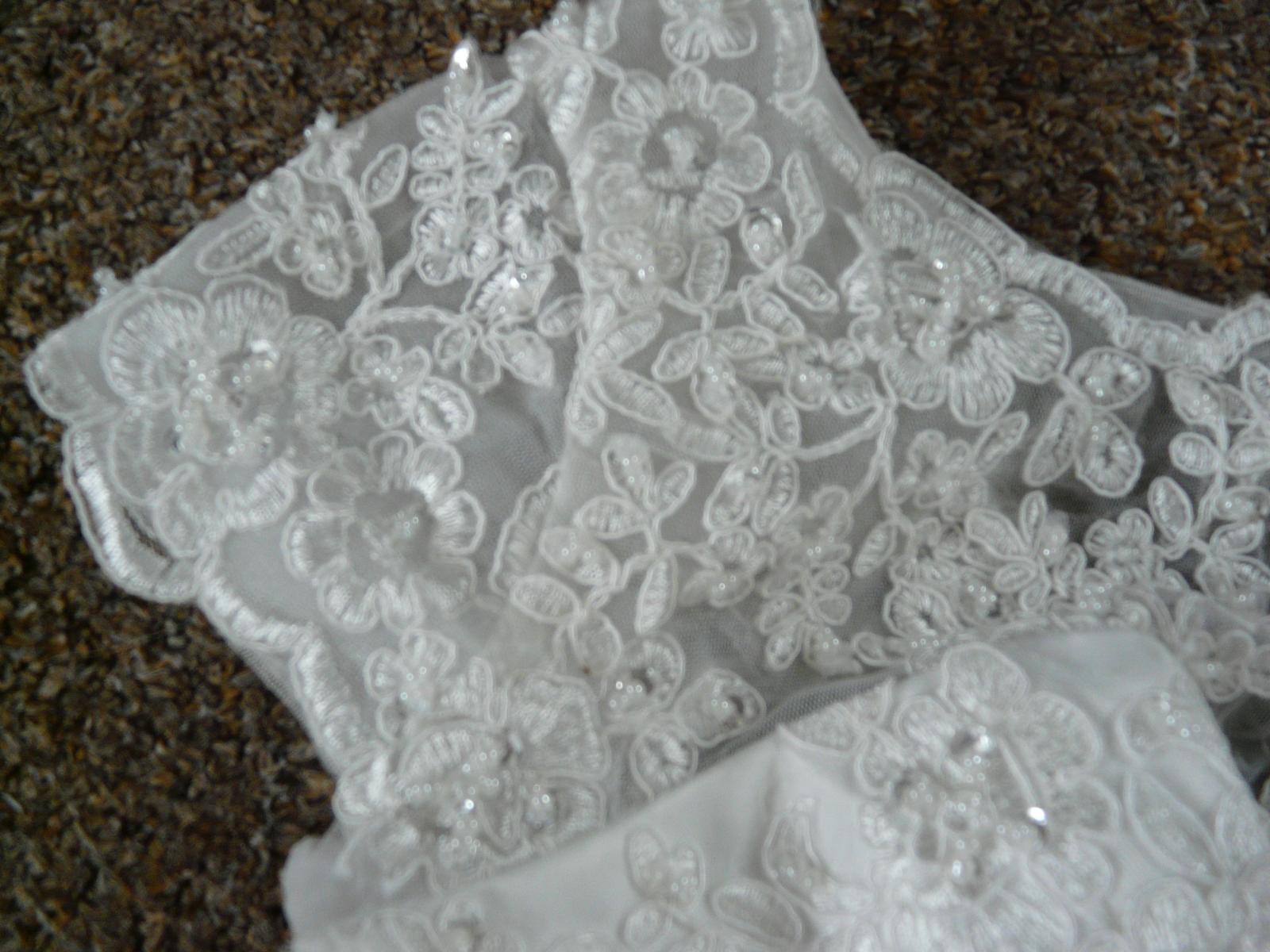 Ivory krátké svatební šaty, různé velikosti, reáln - Obrázek č. 3
