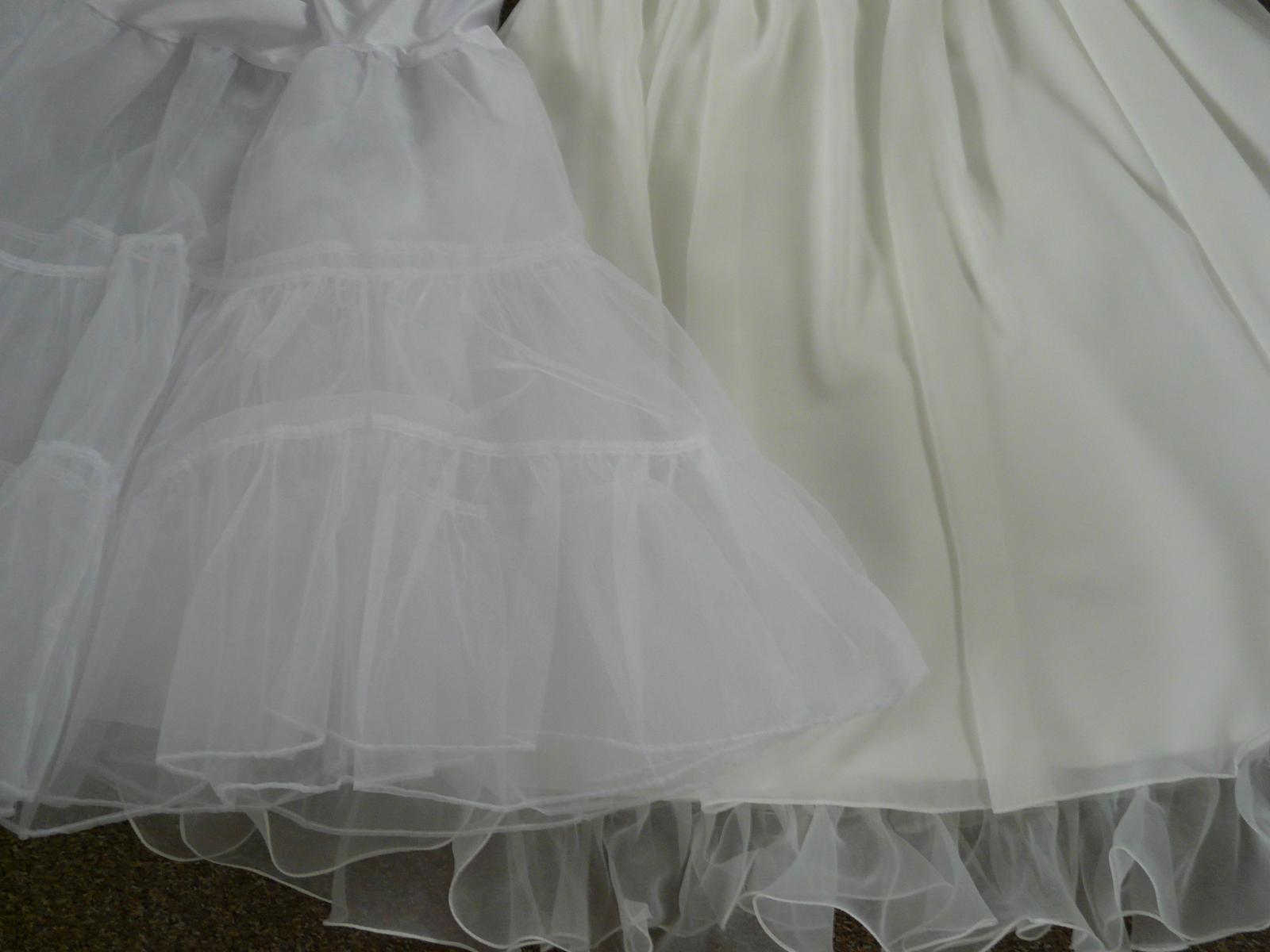 Ivory krátké svatební šaty, různé velikosti, reáln - Obrázek č. 4
