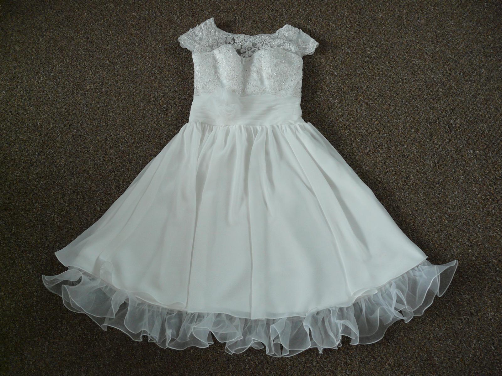 Ivory krátké svatební šaty, různé velikosti, reáln - Obrázek č. 1