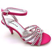 Růžové společenské, plesové sandálky, 36-41, 37