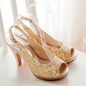 Zlaté svatební, společenské boty, 34-41, 38
