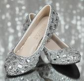 Kamínkové svatební balerínky, 35-40, 41