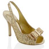 Zlaté flitrované společenské sandálky, 36-41, 41
