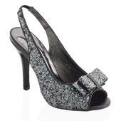 Černé flitrované společenské sandálky, 36-41, 40