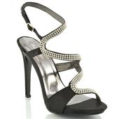 Černé plesové sandálky, 36-41, 40