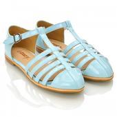 Modré pastelové retro baleríny, lodičky, 36-41, 36