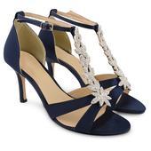 Modré společenské sandálky, 36-41, 39