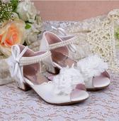Bílé svatební sandálky pro družičky, 26-37, 29