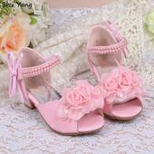 Růžové společenské boty pro družičky, 26-36, 35