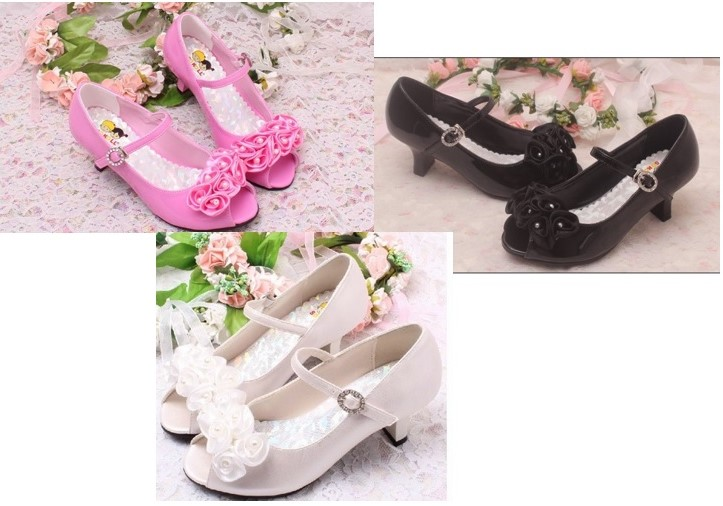 Růžové společenské boty pro družičky, 26-36 - Obrázek č. 4