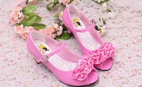 Růžové společenské boty pro družičky, 26-36 - Obrázek č. 1