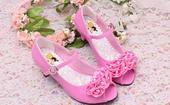 Růžové společenské boty pro družičky, 26-36, 30