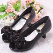 Černé dětské společenské boty, 26-36, 29