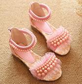 Růžové perličkové sandálky, 26-36, 33