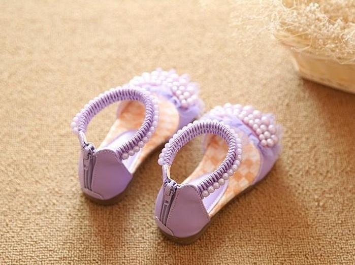 Fialové perličkové sandálky, 26-36 - Obrázek č. 3