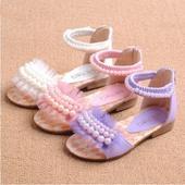 Fialové perličkové sandálky, 26-36, 33