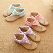 Růžové dětské svatební sandálky, 26-30, 26