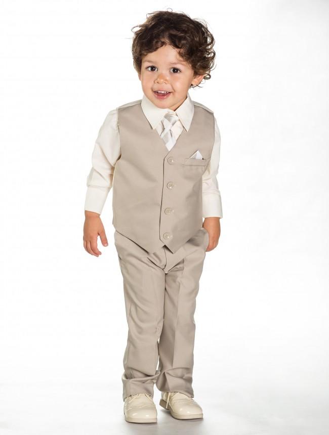 AKCE - béžový dětský oblek k zapůjčení - Obrázek č. 4