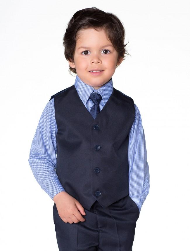 NOVINKA - tmavě modrý oblek, půjčovné, kostky - Obrázek č. 1