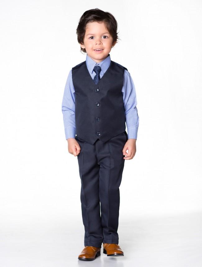 NOVINKA - tmavě modrý oblek, půjčovné, kostky - Obrázek č. 3