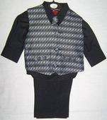 AKCE - černý dětský oblek, 3 měsíce - 10 let, 122