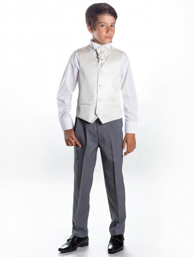 Svatební oblek, ivory, šedá, půjčovné, všechny vel - Obrázek č. 1