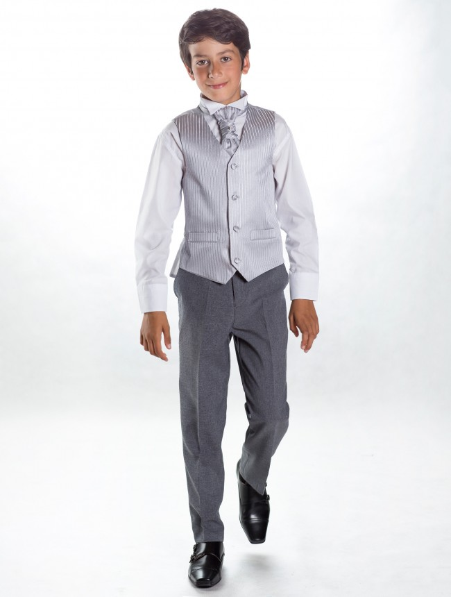 Svatební oblek, stříbrná, šedá, půjčovné, všechny - Obrázek č. 1