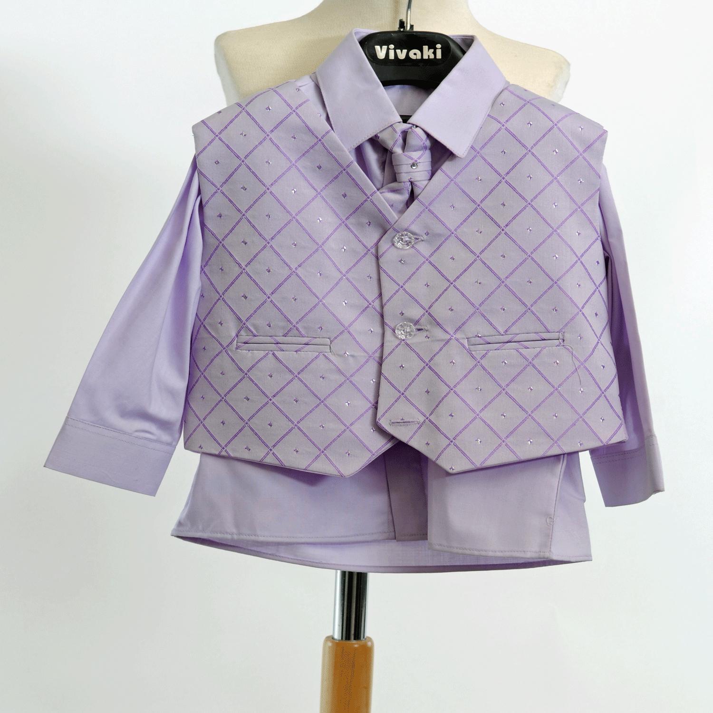 Lilla, světle fialový společenský oblek, k zapůjče - Obrázek č. 1