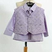 Lilla, světle fialový společenský oblek, k zapůjče, 122
