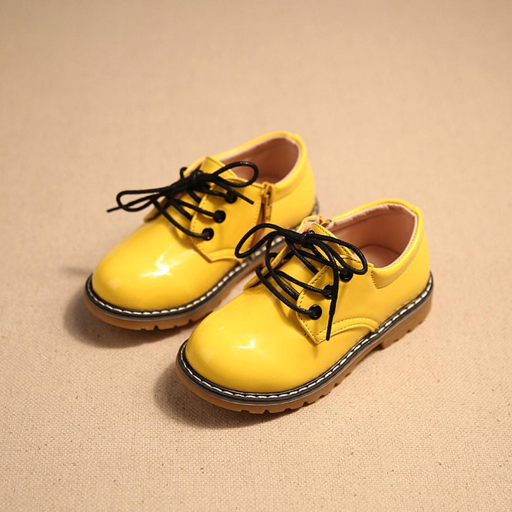 Žluté dětské společenské boty, 26-30 - Obrázek č. 1