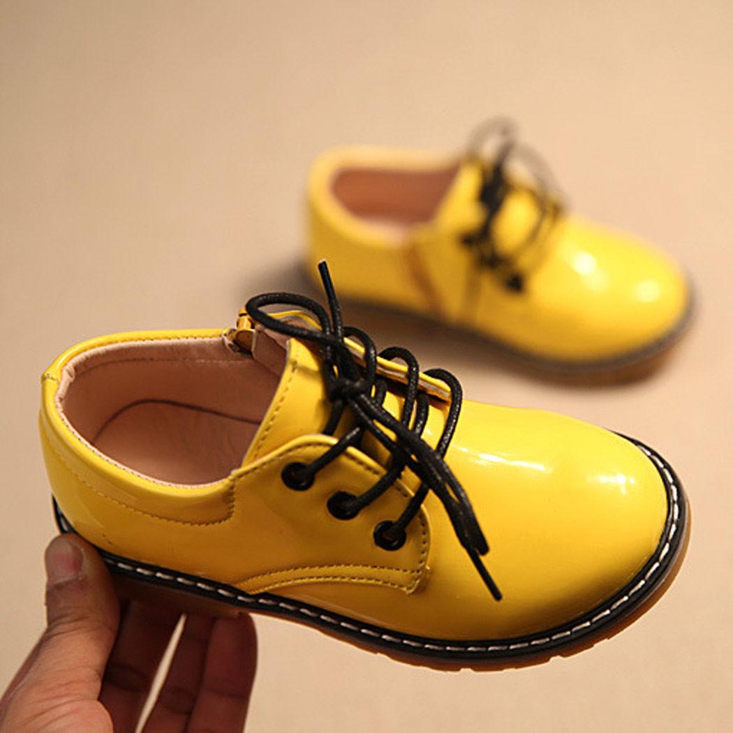 Žluté dětské společenské boty, 26-30 - Obrázek č. 4