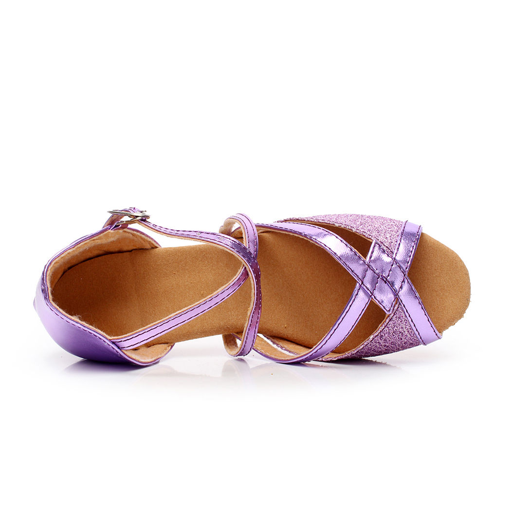 Stříbrné taneční společenské sandálky, 24-38 - Obrázek č. 3