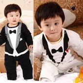 Černý, bílý dětský overal, 3-24 měsíců, 62