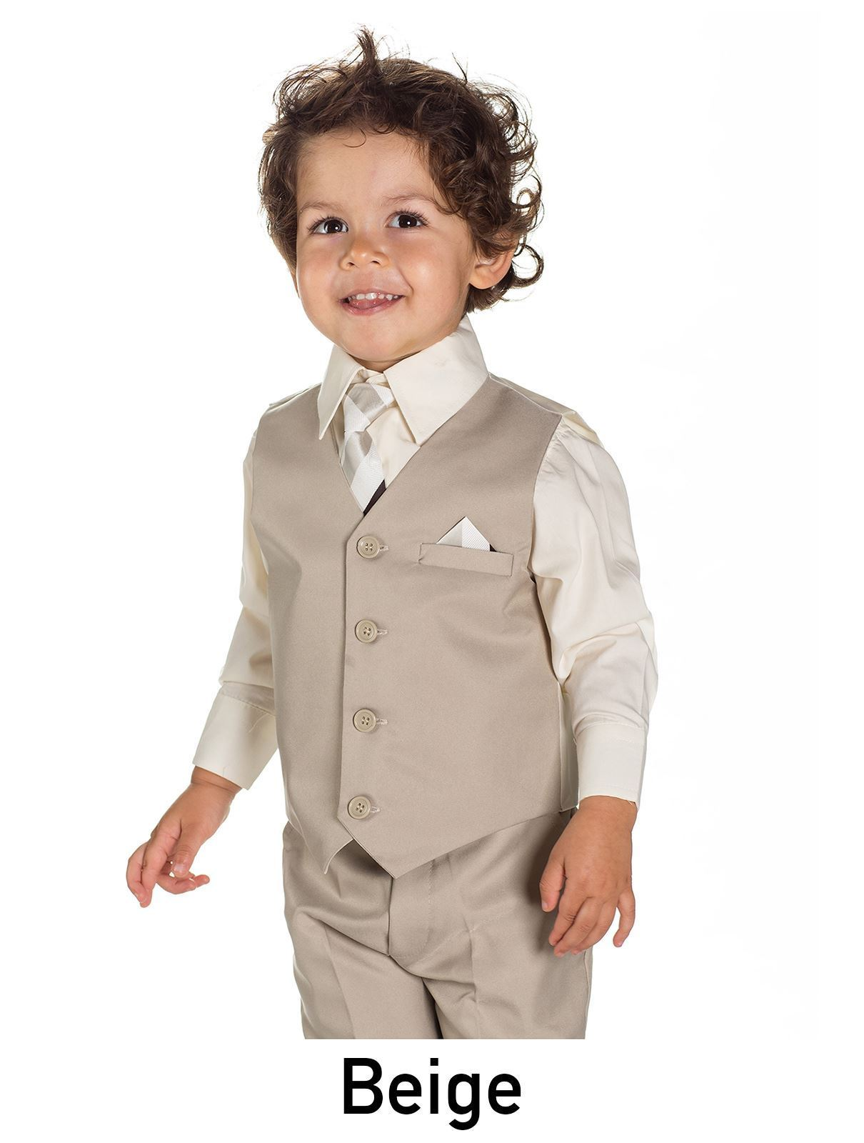 AKCE - béžový dětský oblek k zapůjčení - Obrázek č. 1