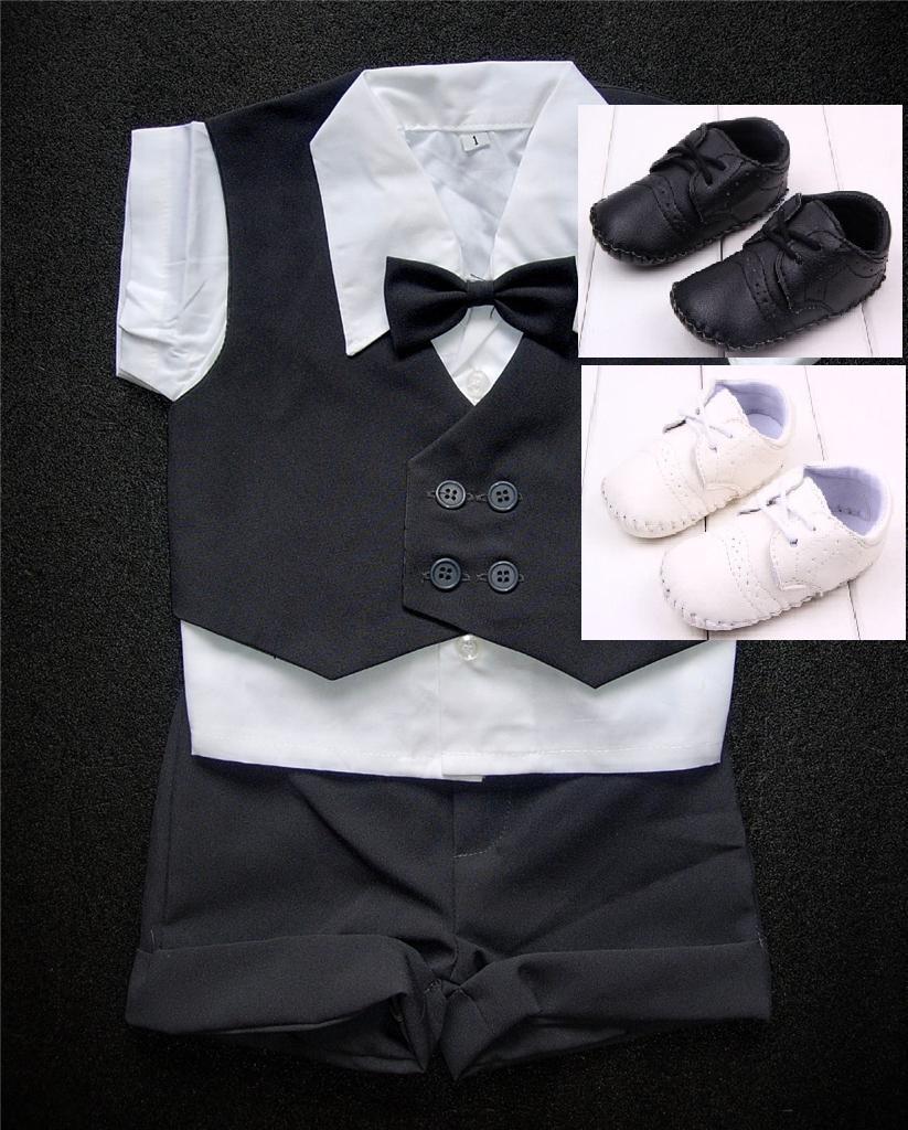 K zapůjčení - šedý dětský letní oblek + capáčky - Obrázek č. 1