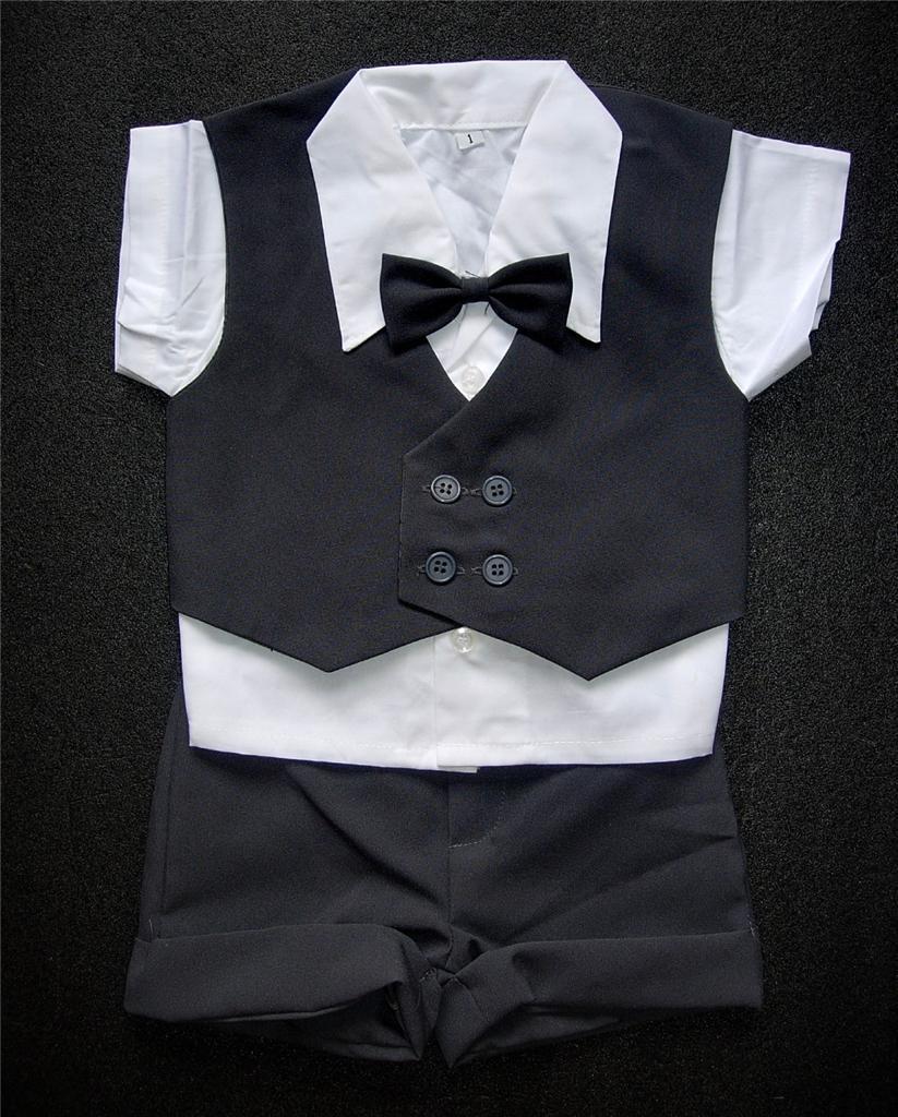 K zapůjčení - šedý dětský letní oblek + capáčky - Obrázek č. 2