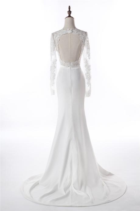 Krajkové svatební šaty, XS-XL, reálné foto  - Obrázek č. 3