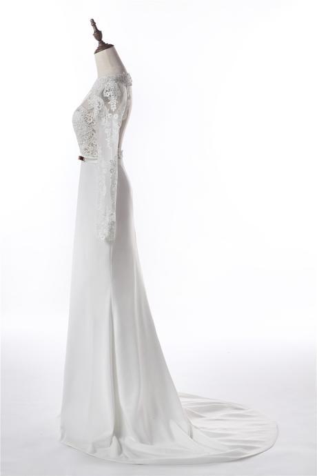Krajkové svatební šaty, XS-XL, reálné foto  - Obrázek č. 4
