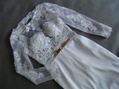 Krajkové svatební šaty, XS-XL, reálné foto , 36