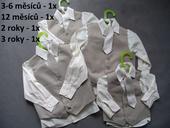 K zapůjčení - béžový oblek, 0-4 roky, různé veliko, 62