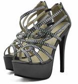AKCE - šedé extravagantní sandálky, 36-41, 40