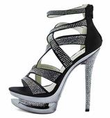 AKCE - černé extravagantní boty, 36-41, 39