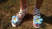 Z naší svatby - jednou použité sandálky - 33,35,36, 35