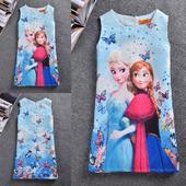 Dětské šaty nejenom na svatbu - Frozen, ledové krá, 134