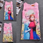 Dětské šaty nejenom na svatbu - Frozen, ledové krá, 128