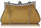 NOVINKA - zlatá společenská kabelka,