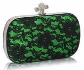 NOVINKA - zelená společenská kabelka,