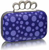 NOVINKA - modrá puntíkatá kabelka,