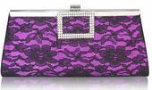 NOVINKA - fialová krajková společenská kabelka,