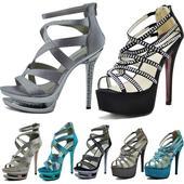 Extravagantní sandálky, lodičky, vysoký podpatek, 38